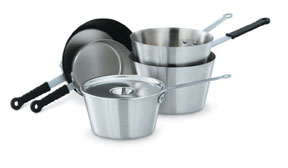 Vollrath 78331 Heavy-Duty Stainless Steel Tapered Sauce Pans