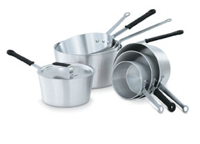 Vollrath 68308 Wear-Ever Tapered Sauce Pans with Natural Finish