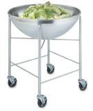 Vollrath 79818 Mobile Bowl Stand with 80 Qt Bowl