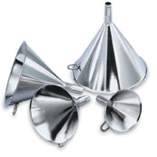 Vollrath 84760 Stainless Steel Funnels