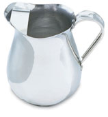 Vollrath 68174 Aluminum Water Pitcher with Ice Guard