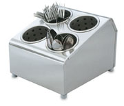 Vollrath 97240 Stainless Silv-a-tainer, Holds 4 Cylinders