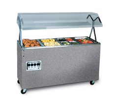 Vollrath 38707 Affordable Portable Hot Food Station, 3 Well