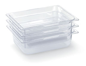Vollrath 8062410 Super Pan Plastic Pans - Low Temperature - Clear