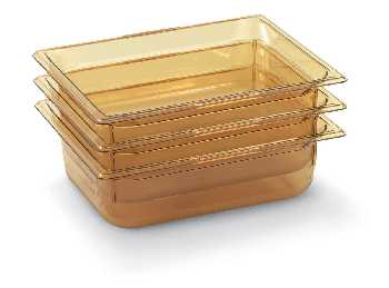 Vollrath 9064410 Super Pan Plastic Pans - High Temperature - Amber
