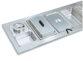 Vollrath 19198 Adaptor Plate - Stainless - Half Size