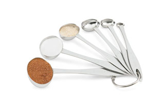 Vollrath 46588 Six-Piece Oval Measuring Spoon Set