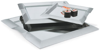 Vollrath 82090 Square Stainless Steel Serving Trays
