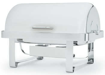 Vollrath 46360 Avenger Economy Roll-Top Chafer, Round