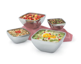 Vollrath 47674 Double-Wall Square Plain Bowls