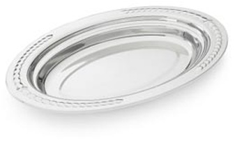 "Vollrath 8230620 Miramar Decorative Pan - Half Oval, 4.5"" Deep"
