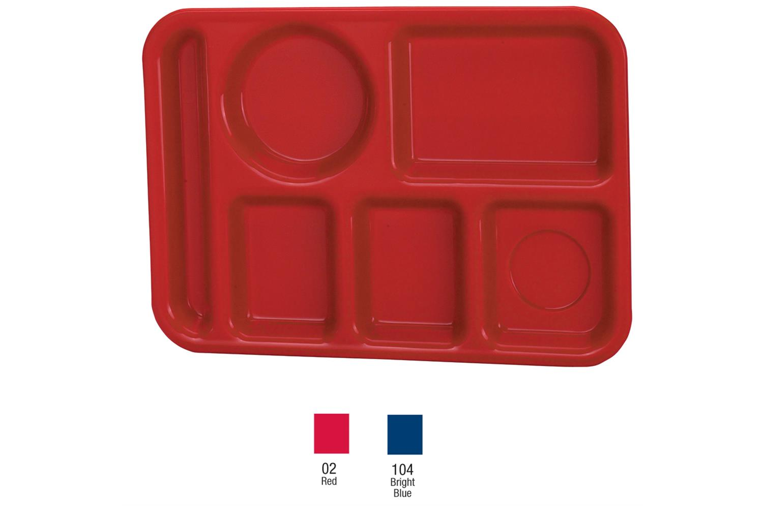 Vollrath 2614-04 Traex Polypropylene School Compartment Trays