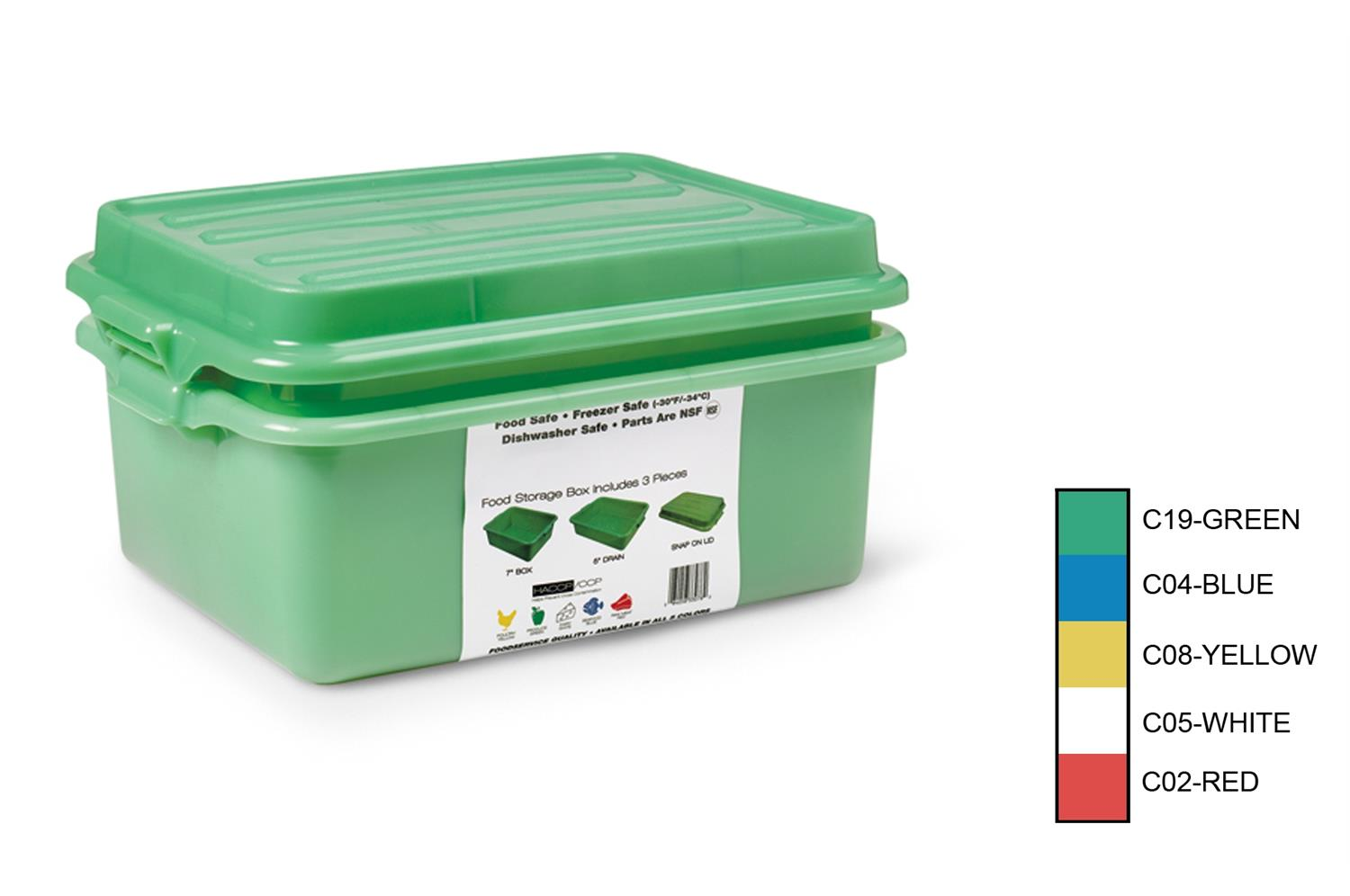 Vollrath 1535BRS6-C05 Traex Color-Mate Combo Sets with Snap-On Lid