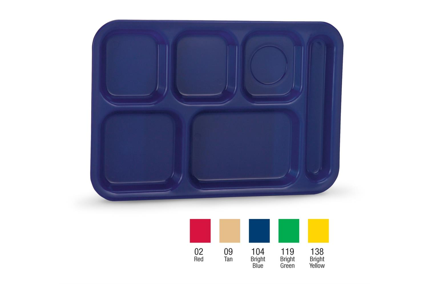 Vollrath 2015-138 Traex Polypropylene School Compartment Trays