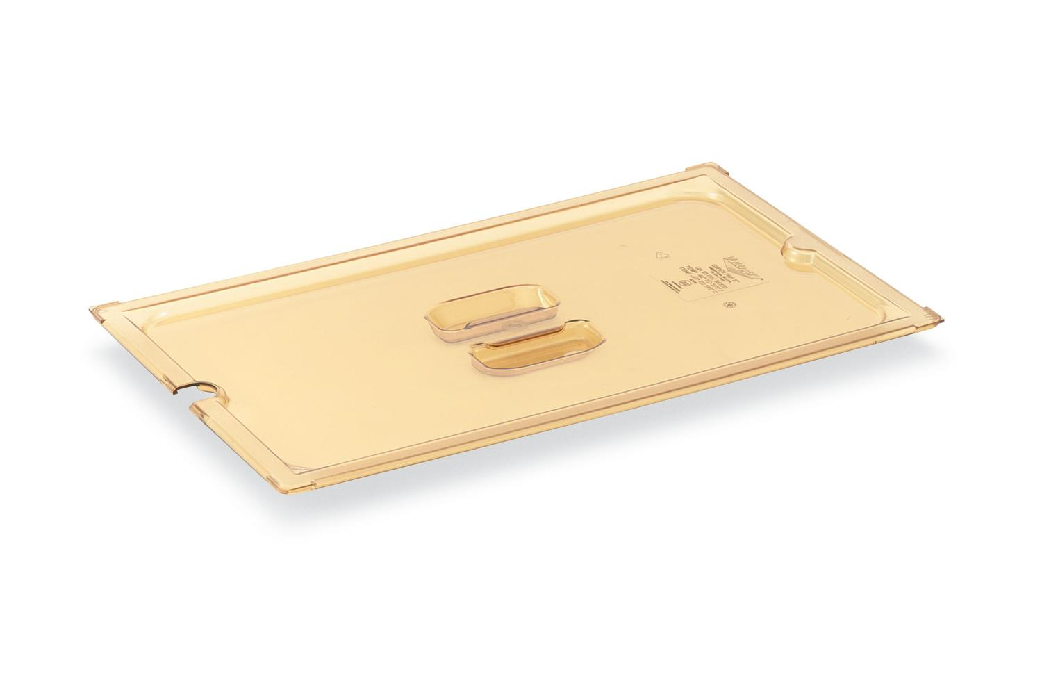 Vollrath 33500 Amber solid cover, half size long