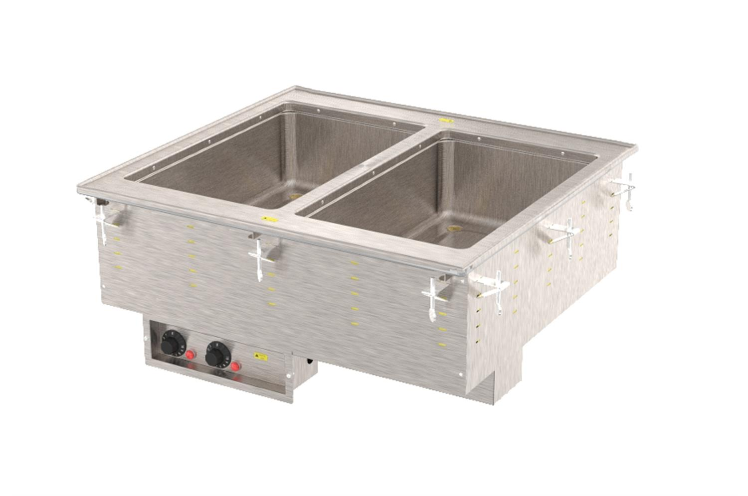 Vollrath 3639970HD Two-Well Hot  Modular Drop-In With Marine Grade Wells
