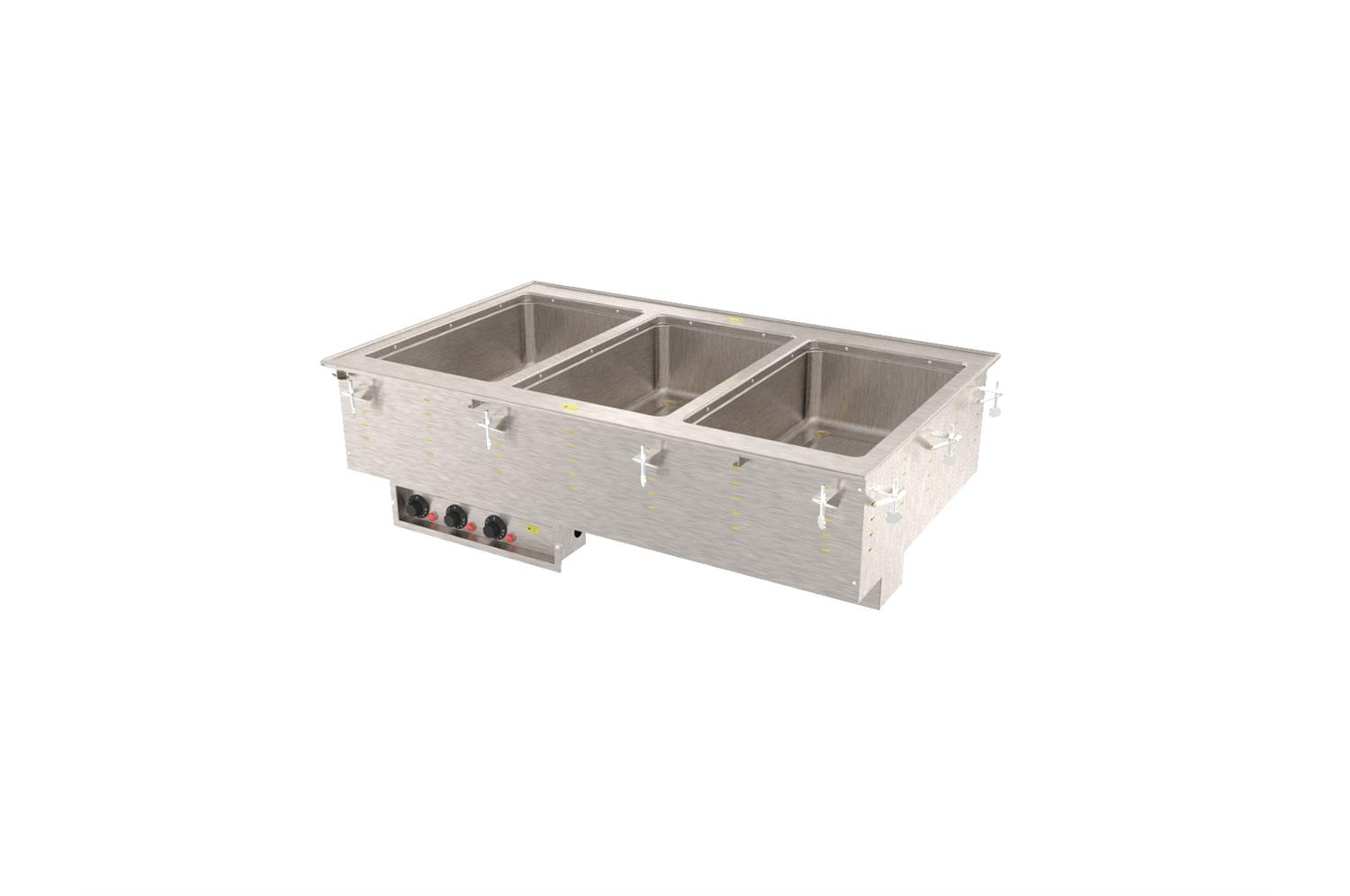 Vollrath 3640471HD Three-Well Hot  Modular Drop-In With Marine Grade Wells