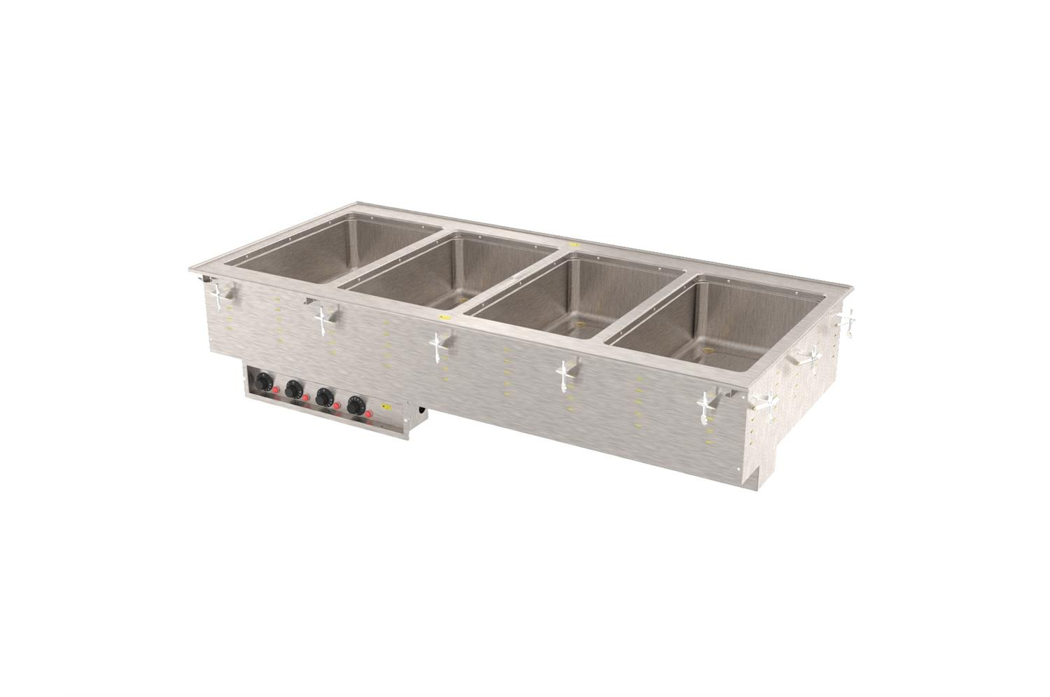Vollrath 3640710HD Four-Well Modular Hot Drop In With Marine Grade Wells