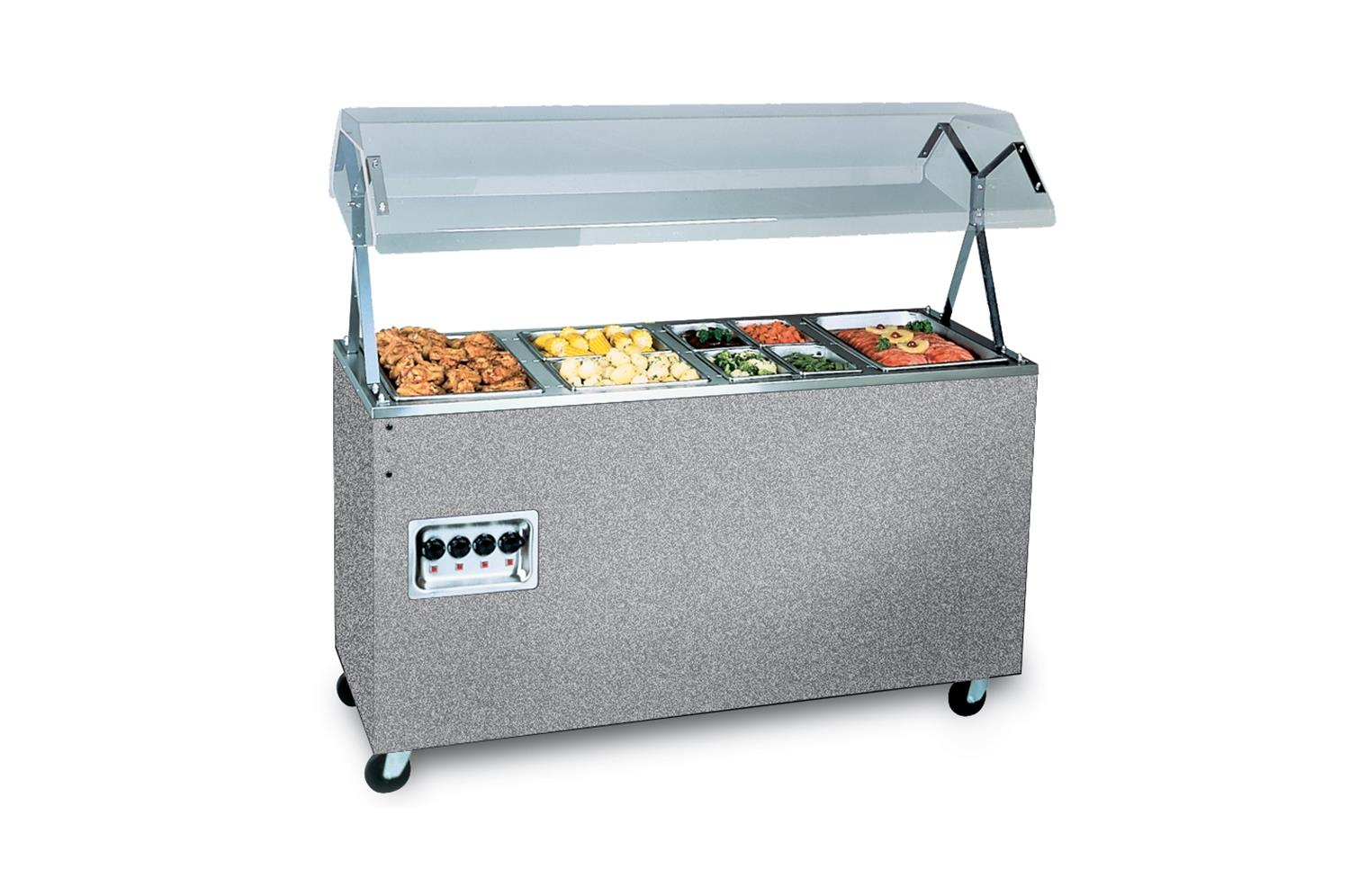 Vollrath 38728N Affordable Portable Hot Food Station, 3 Well