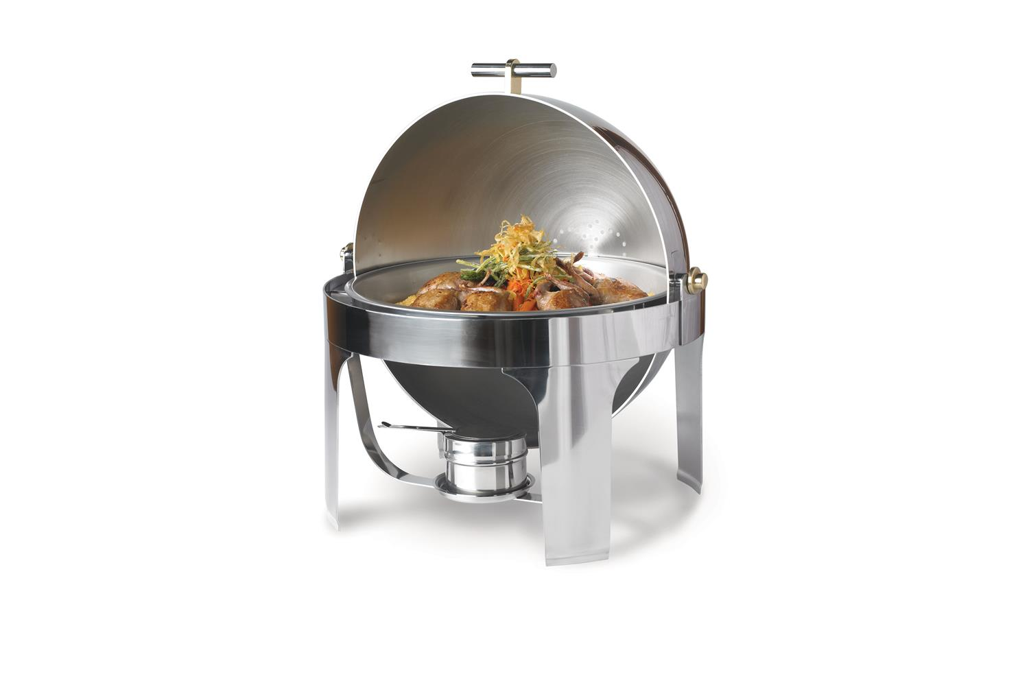 Vollrath 48765 New York, New York Dripless Countertop Chafer, Silverpate