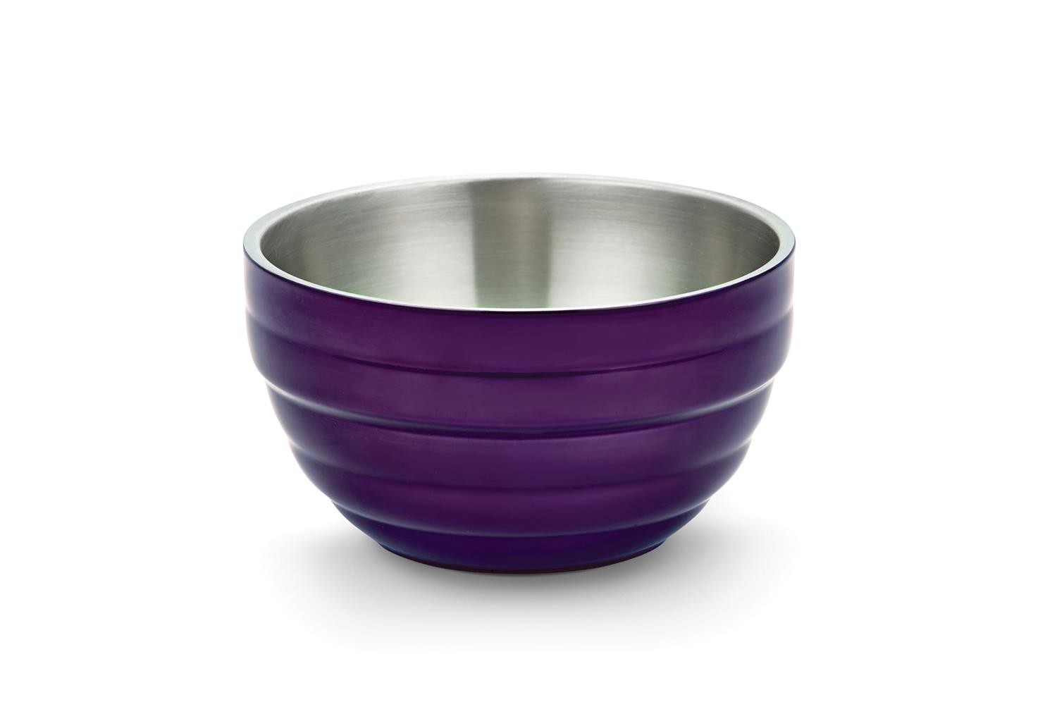 Vollrath 4659065 Round Double-Wall Bowl - Passion Purple 1.7qt (1.6L)