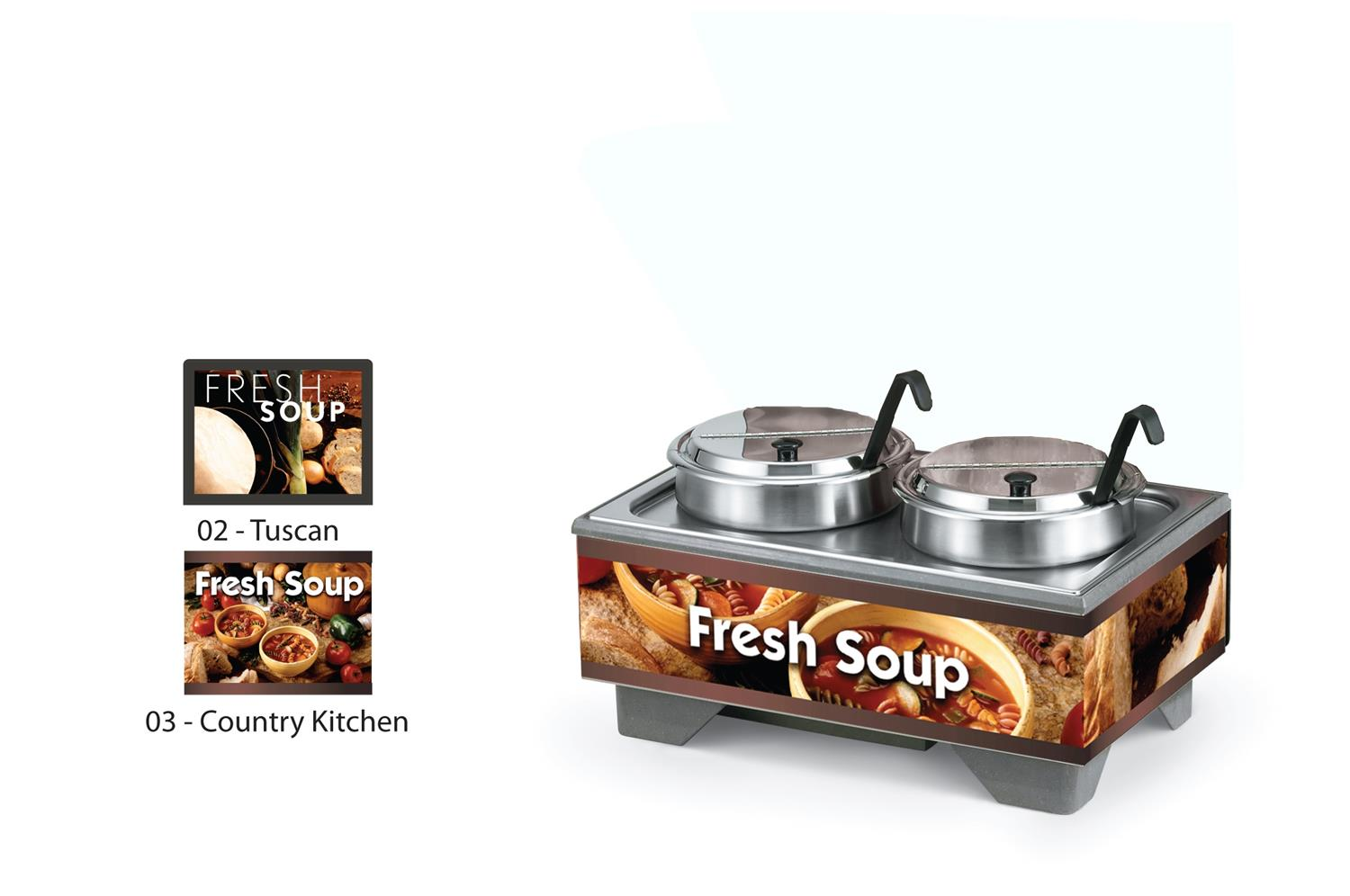 Vollrath 720202003 Full-Size Soup Merchandisers - Country Kitchen