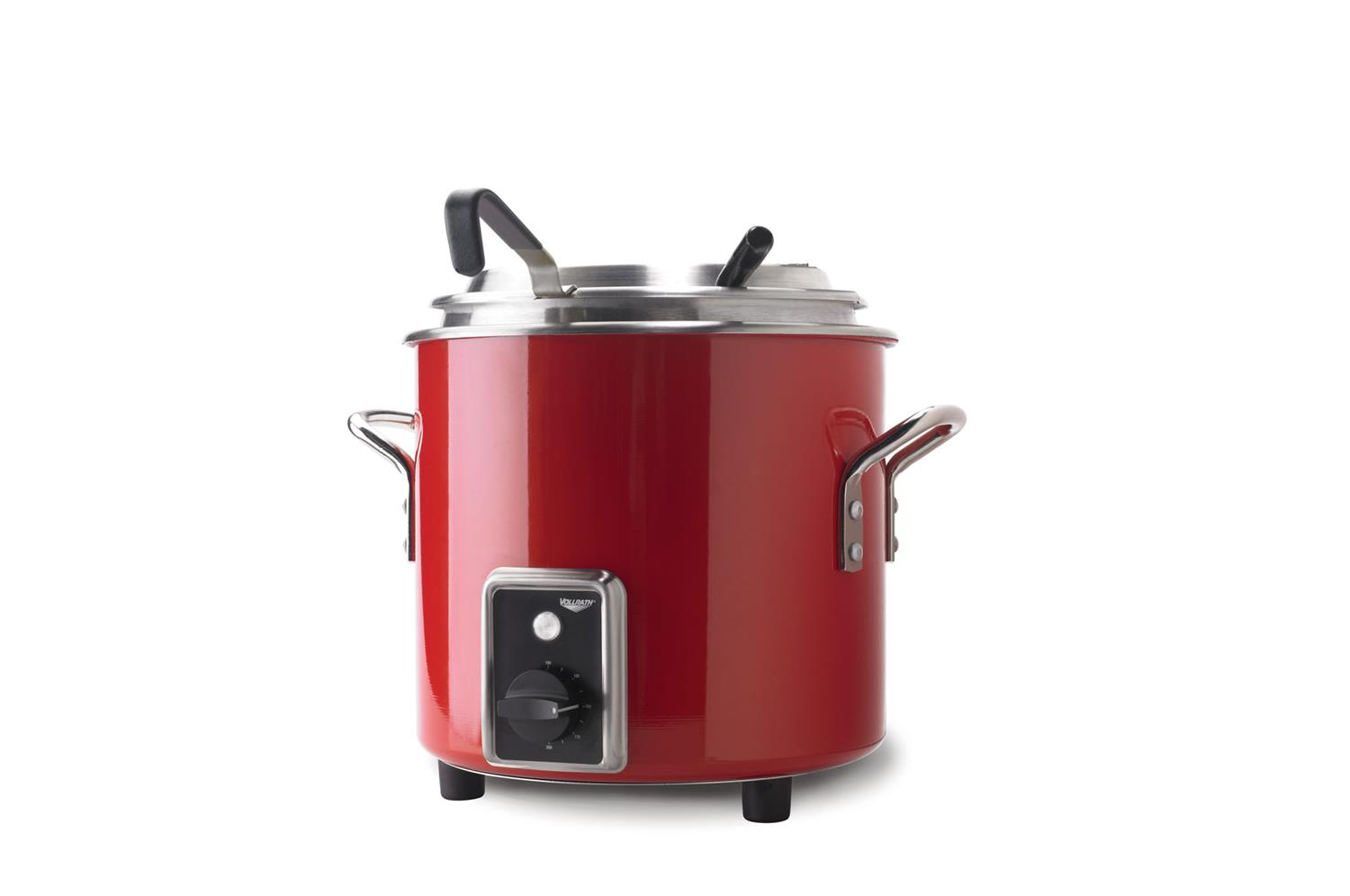 Vollrath 7217755 Retro Stock Pot Kettle Rethermalizer, Fire Engine Red