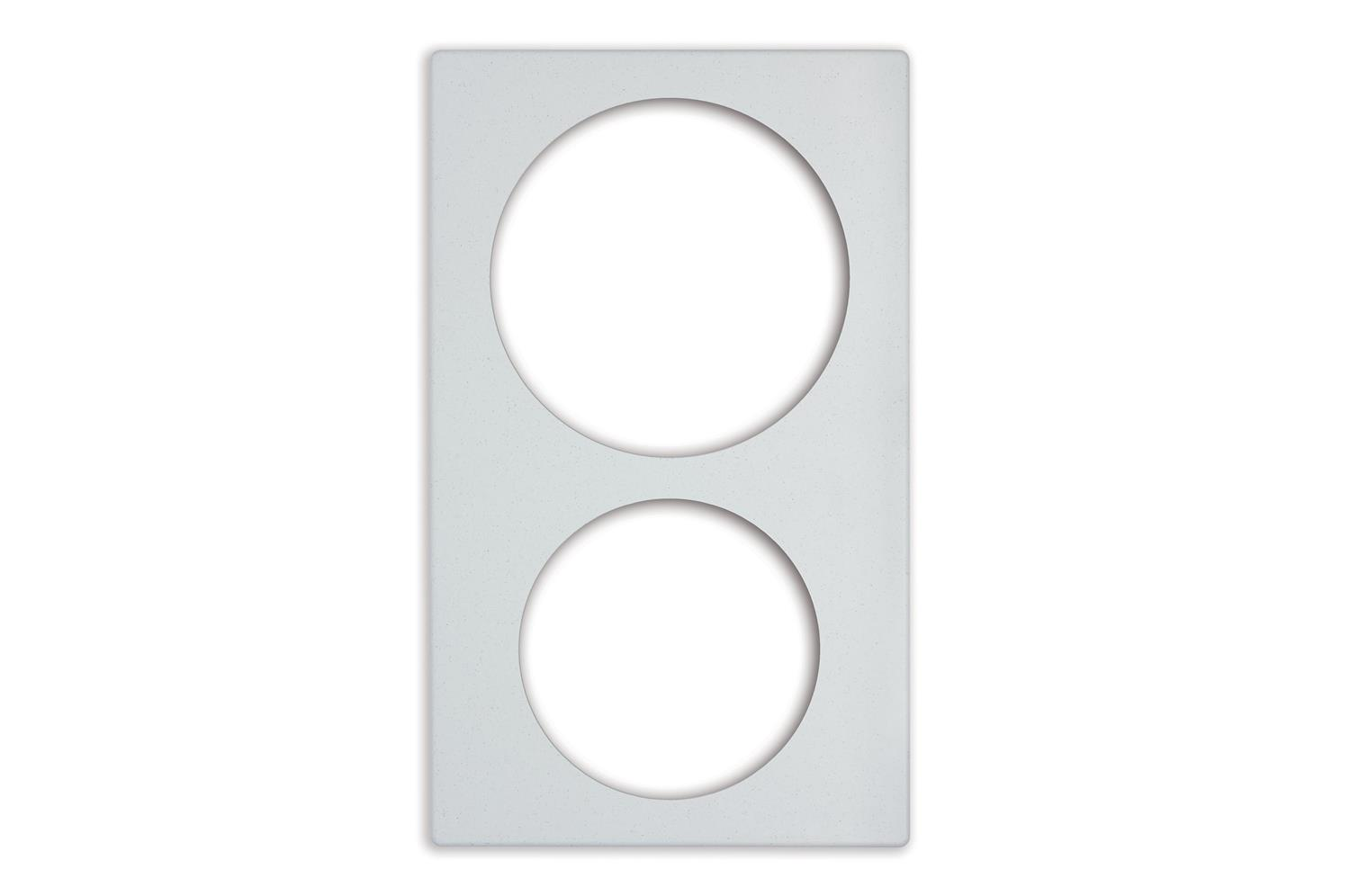 Vollrath 8242020 Miramar Single Size Template, White Stone