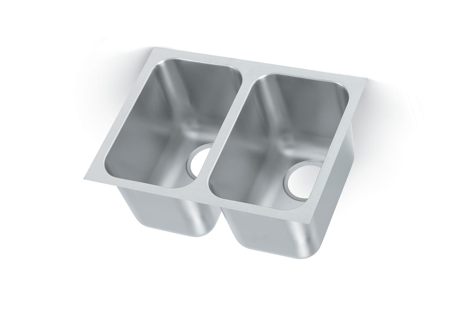 Vollrath 10102-1 Heavy Weight Double Bowl Sink