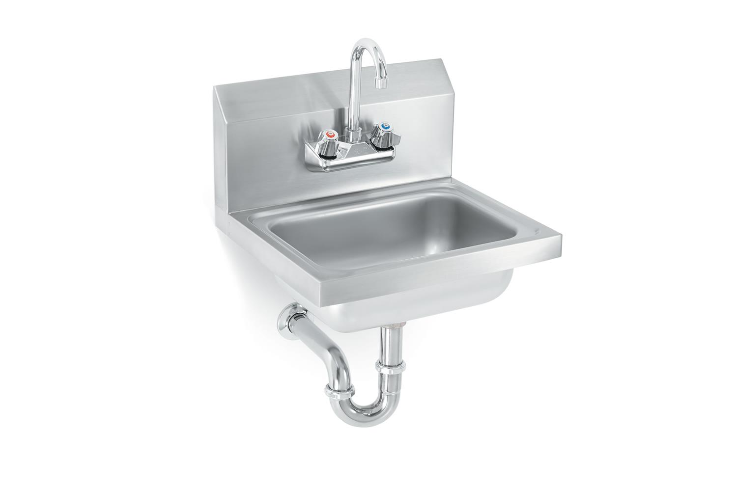 Vollrath K1410-CP Sink with strainer, gooseneck faucet and P-Trap