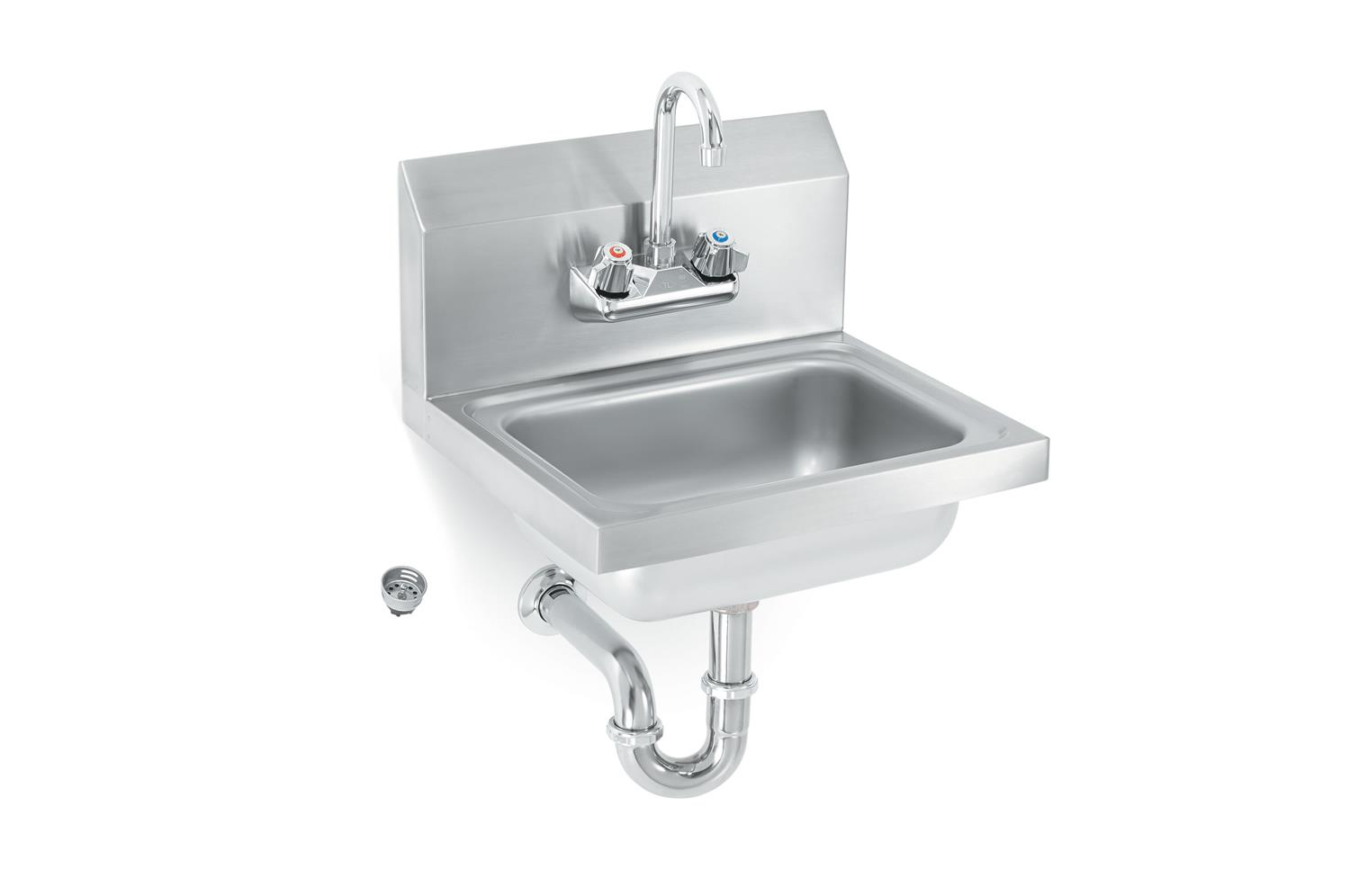 Vollrath K1410CS Sink with splash guards, strainer and gooseneck faucet