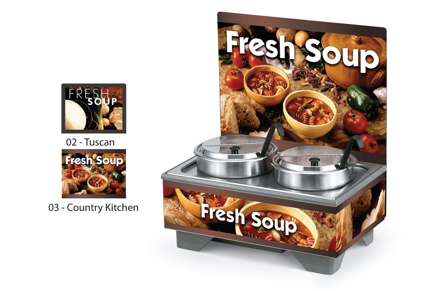 Vollrath 720202103 Full-Size Soup Merchandisers - Country Kitchen