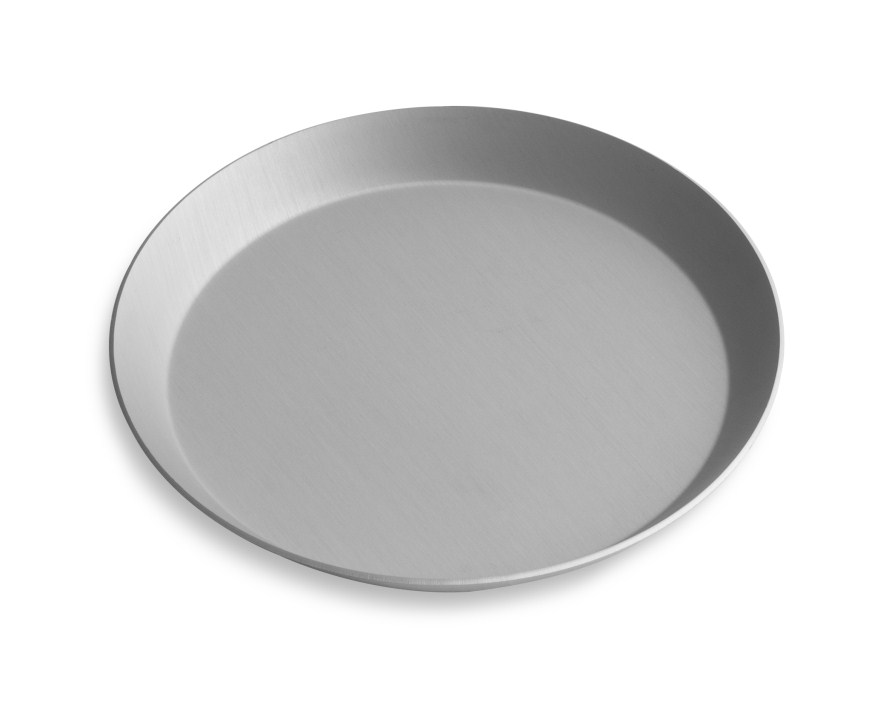 "10"" Solid Press Cut Pizza Pan with Clear Coat Anodized Finish Vollrath PC10SCC 