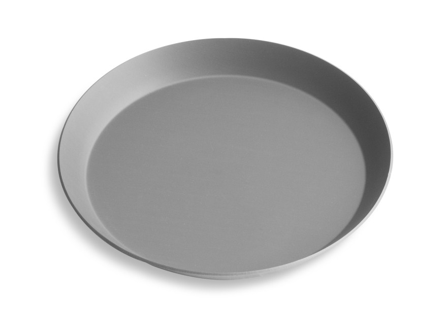 "8"" Solid Press Cut Pizza Pan with Hard Coat Anodized Finish Vollrath PC08SHC 