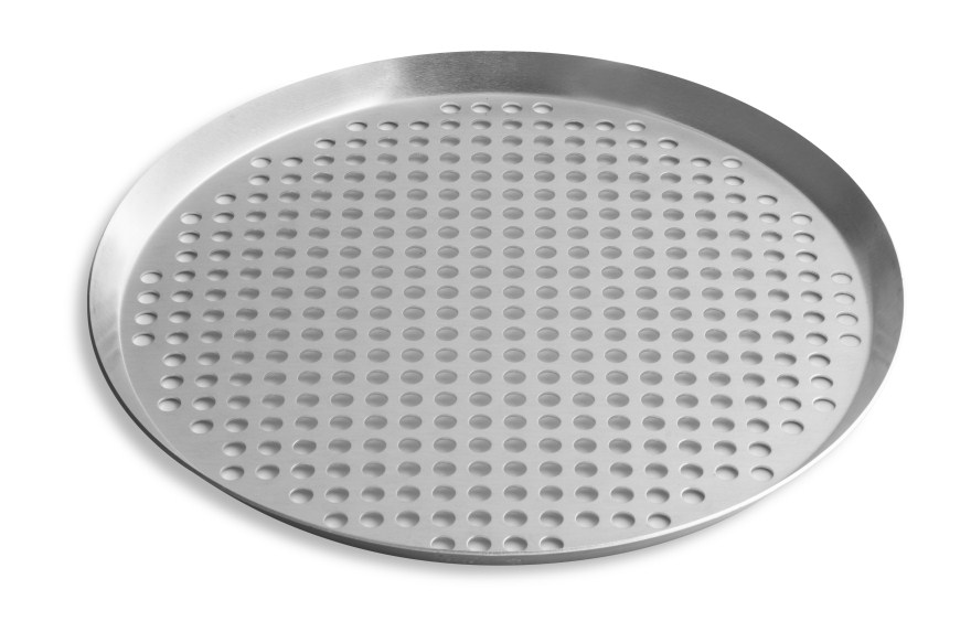 "15"" Extra Perforated Press Cut Pizza Pan with Natural Finish Vollrath PC15XPN 