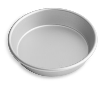"6.5"" Solid Tapered Deep Dish Pizza Pan with Clear Coat Anodized Finish Vollrath 6706CC 