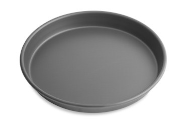 "12"" Solid Tapered Deep Dish Pizza Pan with Hard Coat Anodized Finish Vollrath 6712HC 