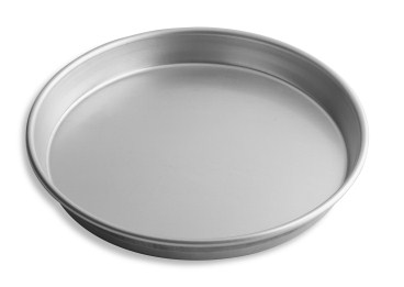 "12"" Solid Tapered Deep Dish Pizza Pan with Natural Finish Vollrath 6712N 