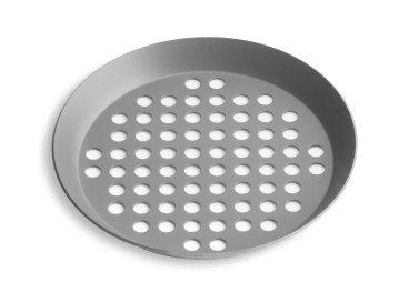 "10"" Extra Perforated Press Cut Pizza Pan with Hard Coat Anodized Finish Vollrath PC10XPHC 