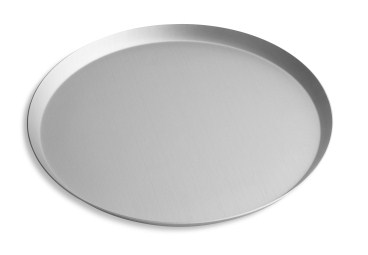 "13"" Solid Press Cut Pizza Pan with Clear Coat Anodized Finish Vollrath PC13SCC 