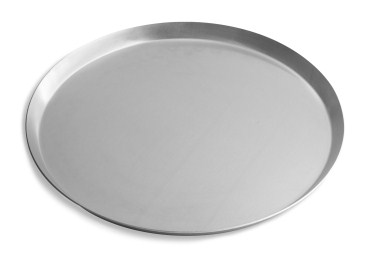 "10"" Solid Press Cut Pizza Pan with Natural Finish Vollrath PC10SN 