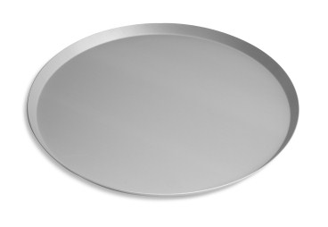 "18"" Solid Press Cut Pizza Pan with Clear Coat Anodized Finish Vollrath PC18SCC 