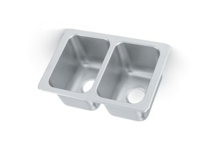 Vollrath 102-1-1 Self-Rimming Double bowl sink