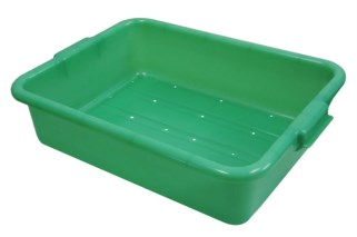 Vollrath 1511-C19 Traex Color-Mate Perforated Drain Box, Green