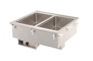Vollrath 3639901HD Two-Well Hot  Modular Drop-In With Marine Grade Wells