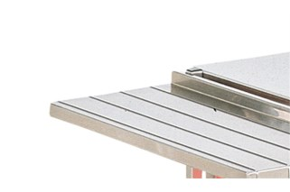 Vollrath 39924 Folding Stainless Steel Tray Slide, Fits 24""