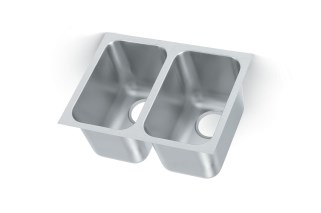 Vollrath 12102-1 Heavy Weight Double Bowl Sink