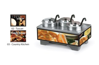 Vollrath 720201003 Full-Size Soup Merchandisers - Country Kitchen