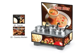 Vollrath 720201103 Full-Size Soup Merchandisers - Country Kitchen