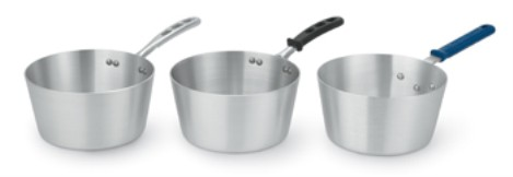 Vollrath 4350 Wear-Ever Tapered Sauce Pans with Natural Finish